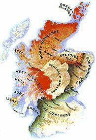 Регионы производства Шотландского виски.